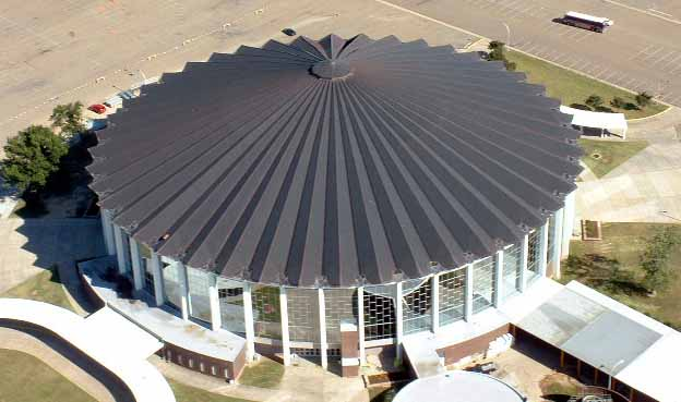 Copper Roofing Jackson Coliseum